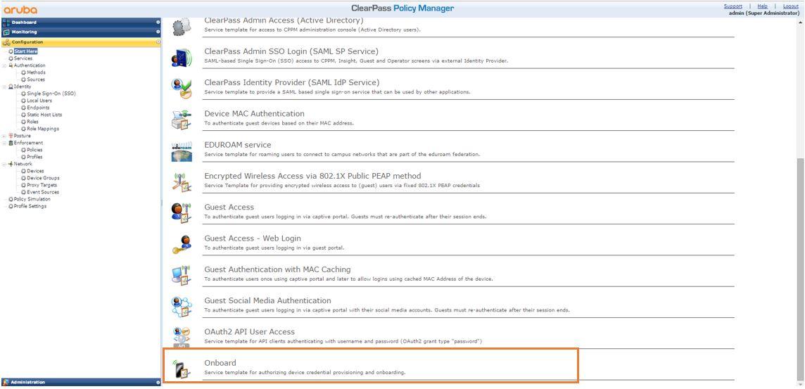 Guia de Configuração Básico: Single SSID com IAP+Clearpass